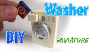 How To Make Dollhouse Furniture From Recycled Materials Diy Realistic Miniature Washer Dollhouse No Polymer Clay
