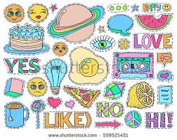 patch badges set doodle sketch vector stock vector 559521451