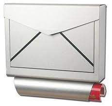 design edelstahl briefkasten pro top design briefkasten edelstahl zeitungsfach modell elecsa