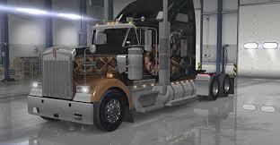 kw trucks pictures kenworth w900 interior exterior rework pack american truck