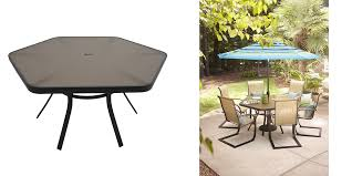 lowes table l set lowes 89 50 reg 178 garden treasures hayden island 56 in w x