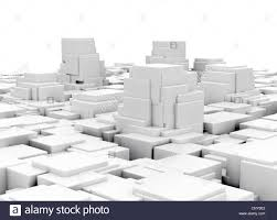 Futuristic Design by Abstract 3d City Model Futuristic Design Stock Photo Royalty Free