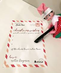 santa letter free printable elf on the shelf smudgey