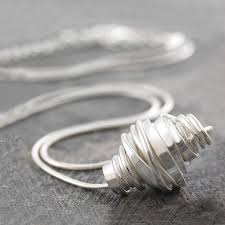 silver wire necklace images Coiled sterling silver wire necklace by otis jaxon silver jpg