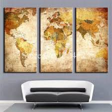 Map Home Decor Aliexpress Com Buy Framless Modern World Map Home Decoration Oil