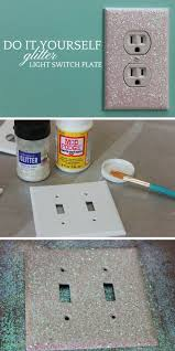 Do It Yourself Bathroom Ideas Colors 12 Adorable Diy Light Switch Plate Ideas With Tutorials Glitter