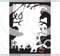 Halloween Border Clip Art by Ghostly Clipart Border Pencil And In Color Ghostly Clipart Border