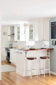 Subway Tiles Backsplash Kitchen White Kitchen Subway Tile Backsplash Shiplap Island Wood Bar