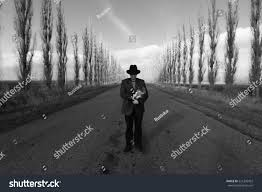 Value Of Home by Man Bowler Hat Road Lined Poplar Stock Photo 521306422 Shutterstock
