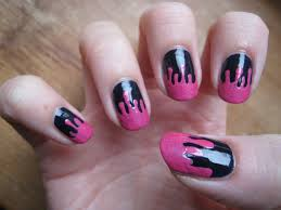 dripping paint nail art youtube dripping paint nail
