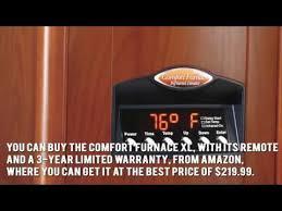 amazon black friday infrared fireplace tuscan walnut comfort furnace infrared heater uv youtube