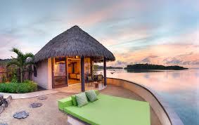 staying in an overwater bungalow in fiji koro sun