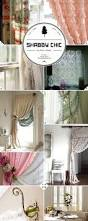 window treatment style shabby chic curtains rods and tie backs