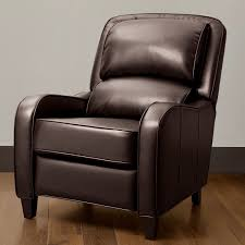 Brown Leather Recliner Chairs Bedroom Modern White Fabric Club Chair With Recliner And