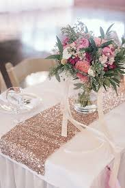 dusty rose table runner rose gold table runners reception table decor pinterest gold