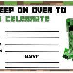 minecraft party invitations template minecraft birthday party