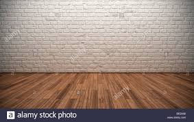 Whitewashed Laminate Flooring Empty Room Whitewashed Brick Wall Wooden Floor Floor Boards