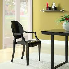amazon com modway casper modern acrylic dining armchair in black