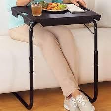 folding lap table portable breakfast bed tray serving tv laptop
