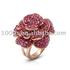 flower rings jewelry images Big rose flower crystal ring jewelry buy crystal engagement ring jpg