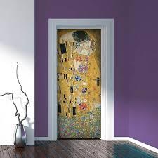 adesivi porta decorazione porta klimt il bacio adesivi murali wall stickers
