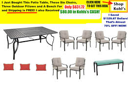 kohl u0027s coupon codes saved me 1000 00 on patio furniture