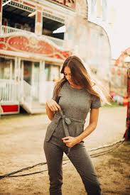 jumpsuit in the grant tweed belted jumpsuit in charcoal piper scoot