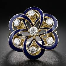 jewelry diamonds rings images Victorian retrospective blue enamel and diamond ring jpg