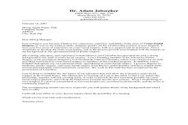 successful cover letter examples successful cover letter samples