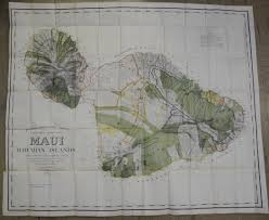 Molokai Map Maps Antique United States Us States Hawaii