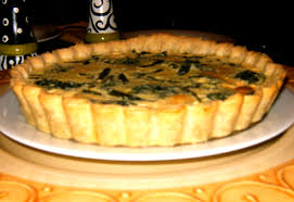 spinach and asparagus quiche