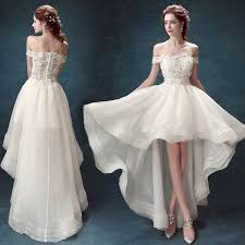 wedding dress suppliers a line the shoulder asymmetrical organza wedding dress with