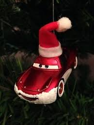 santa lightning mcqueen ornament custom disney pixar