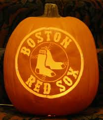 red sox pattern i carved on a foam pumpkin pumpkin carvings at