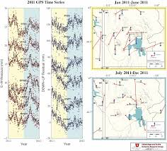 Yellowstone Eruption Map A Look At 2011 Yellowstone Caldera Time Series And Velocities