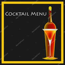 vintage martini illustration vintage cocktail menu template u2014 stock vector petrafler 9924083