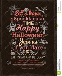 free halloween party flyer templates halloween party typography template for card poster flyer stock