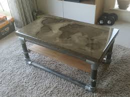 diy concrete table top i made a concrete coffee table with a recessed world map cool