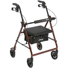 senior walkers with seat drive walker rollator with 6 wheels fold up removable