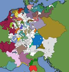 Unification Of Germany Map by The Map Of Hre At 1444 With Eu4 Nations Colored In Eu4