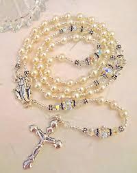 pearl rosary rosaries