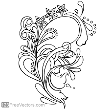 floral ornament vector graphics free vectors