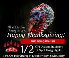 happy thanksgiving from your friends bearcreekarchery
