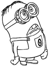 free anime movie despicable minion coloring pages kids