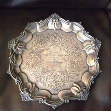 engraved tray 1800 1849 antique us sterling silver platters trays ebay
