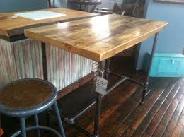 Reclaimed Kitchen Island by Super Cool Pub Height Table Or Island Made From Reclaimed Wood And