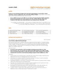 sales and marketing resume format exles 2015 marketing resume exle best toreto co digital manager page