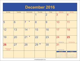 december 2016 calendar printable with holidays pdf and jpg