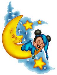 baby mickey sleep moon mickey mouse baby mickey