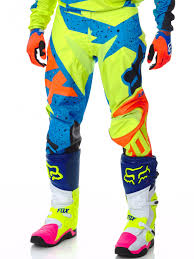fox motocross body armour fox yellow blue 2017 180 nirv mx pant fox freestylextreme